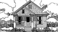 Eplans Country House Plan - Two Bedroom Country - 704 Square Feet and 2 Bedrooms from Eplans - House Plan Code HWEPL72756