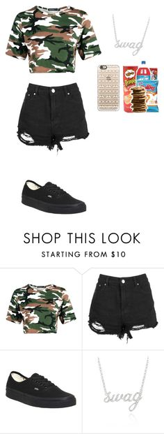 """Kind Of Plain But Hey #6"" by jaycutie2-1 ❤ liked on Polyvore featuring Boohoo, Vans, Belk & Co. and Casetify"