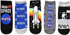 Hyp NASA I Need My Space Juniors/Womens 5 Pack Ankle Socks Nasa, Amazon Fulfillment Center, Cool Socks, Ankle Socks, Daughter Love, Fashion Brands, Packing, Space, Womens Fashion