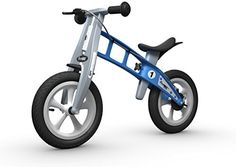 Street Light Blue balance bike features air tires ideal for off-road conditions with mostly grass gravel or loose dirt surfaces. Designed in Germany the multi-award winning balance bike is the perf...