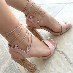 Open Toe Chunky Heels