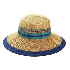 c7ef8e8206b9bc Braided summer sun hat. Inline striped band. Downward sloping brim with  contrast trim,. SetarTrading Hats