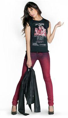 Pilar Rubio with Q2 burgundy pants!♥