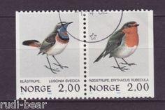 Norwegen Nr. 860-61 gest. Blaukelchen und Rotkehlchen Zusammendruck | eBay