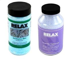 Eucalyptus Mint & Lavender Palmarosa Aromatherapy Crystals -17 & 22 Oz Bottles- Soak Aches, Pains & Stress Relief for Spa, Bath by Relax Spa & Bath, http://www.amazon.com/dp/B00CDV3QGO/ref=cm_sw_r_pi_dp_N87esb1JPW6AQ