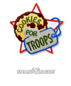 Cookies for Troops Girl Scout Fun Patches, Cool Patches, Service Projects, Girl Scouts, Troops, Cookies, Christmas Ornaments, Holiday Decor, Crack Crackers