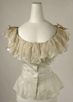 corset cover 1890-1899