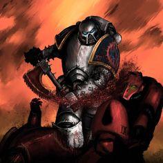 Chaos 40k, The Horus Heresy, Warhammer 40k, Axe, Crushes, Blood, Geek Stuff, Darth Vader, War Hammer