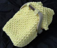Crochet Pattern - Crocodile Stitch Car Seat Baby Blanket