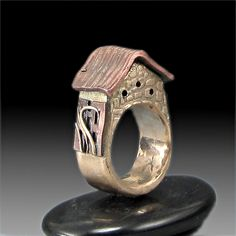 Bronze Clay Ring | ... Hobbit House Ring of Bronze and Copper Metal Clay with Trellis | eBay