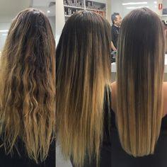 Excellent results using Yuko permanent straightening on lightened Hair. www.yuko.com.au