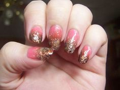 Pink and Brown Flakie Gradient Thing: Revlon's Moon Candy in Universe, Sinful Colors's Soul Mate