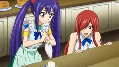 Wendy and Erza 💕 Fanfic Fairy Tail, Art Fairy Tail, One Piece Fairy Tail, Fairy Tail Comics, Fairy Tail Images, Fairy Tales, Fairy Tail Erza Scarlet, Natsu Fairy Tail, Fairy Tail Lucy