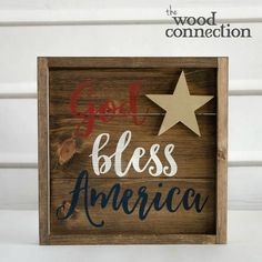 DIY God Bless America Rustic Sign