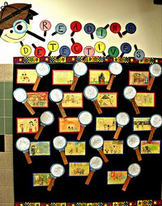 Reading Detectives...a fun way to encourage good reading habits, and a silly way to decorate your classroom!