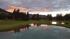 Sonnenuntergang Windau Lodge Golf Courses, Sunset, Summer