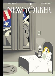 "U.S. The New Yorker - Week's cover, ""Uncle Sam is Listening,"" // by Richard McGuire."