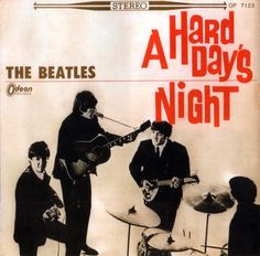 The Beatles - A Hard Day's Night - different cover released on Odeon I love it :)