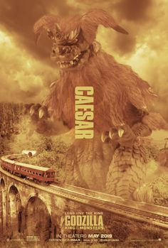 Dont like the look for the monsterverse but king ceasar would be badass All Godzilla Monsters, Godzilla 2, Monster Names, Love Monster, Godzilla Franchise, American Giant, Fantasy Tv, King Kong, Geek Culture
