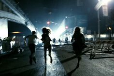 Image de run, grunge, and night