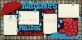 Raindrops Keep Falling (Girl) Scrapbook Page Kit
