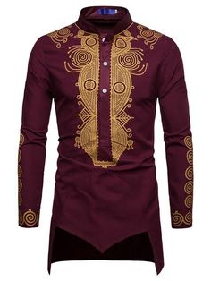 Dashiki Slim Stand Collar Men's Shirt Fashion girls, party dresses long dress for short Women, casual summer outfit ideas, party dresses Fashion Trends, Latest Fashion # Dashiki Shirt, Dashiki Dress, African Attire, African Wear, African Outfits, African Style, African Men Fashion, Mens Fashion, Gowns