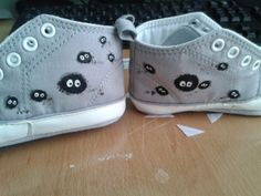 zapatillas pintadas a mano /painted sneakers for babies