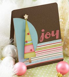 Contemporary Christmas Card with Stylized Christmas Tree