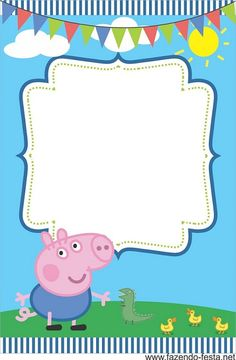 Peppa Pig Invitation Template Best Of Pin by Crafty Annabelle On Peppa Pig Printables Cumple George Pig, Peppa E George, George Pig Party, Invitacion Peppa Pig, Cumple Peppa Pig, Peppa Pig Invitations, Invitation Fete, Pig Birthday Cakes, Boy Birthday Parties