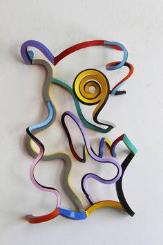 Metal sculpture by Dutch artist Frans Muhren