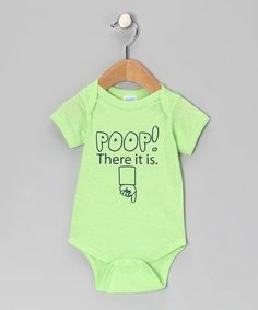 'Poop! There It Is' Bodysuit. But put text on the back?
