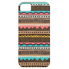 Tribal inspired abstract pattern. Cute, trendy and unique case for every occasion.