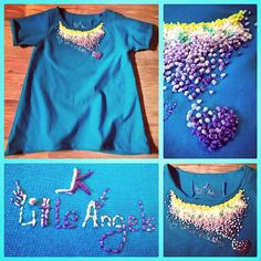 Soft dress with hand made embroidery for little lady