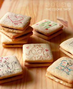 Biscoito de leite ninho rechado com nutella (passatempo copycat) - OU Passavento - The  Cookie Shop.wordpress.com