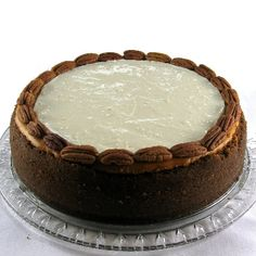 Pumpkin Cheesecake with Marshmallow-Sour Cream Topping and Gingersnap Crust.from the kitchen of One Perfect Bite courtesy of Bon Appetit Magazine How To Make Cheesecake, Pumpkin Cheesecake, Cheesecake Recipes, Creative Desserts, Just Desserts, Cake Cookies, Cupcake Cakes, Cupcakes, Yummy Treats