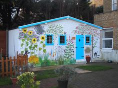 Mural artist care home outdoor cottage cute