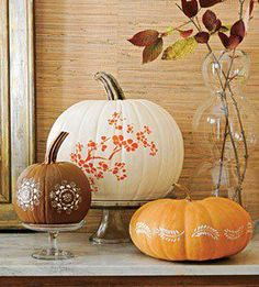 Cute Way To Decorate Pumpkins for Halloween Or Thanksgiving.......