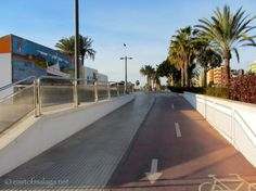 Promenade has easy access from disabled parking area Lead The Way, Water Me, Seaside Towns, Travel Info, Malaga, No Way, Sidewalk, Easy Access, Beach