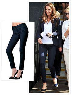 I love Kate Middleton's Pants  J Brand the 811 Mid-Rise Skinny Leg in navy twill.