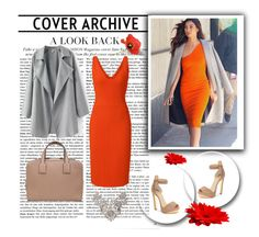 """""""Orange dress"""" by hedija-okanovic ❤ liked on Polyvore featuring Christian Louboutin, Narciso Rodriguez and Loewe"""