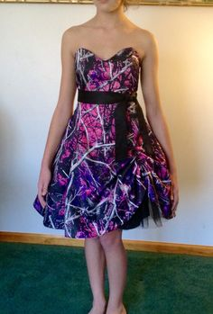 Muddy Girl Dress... Sold at Link to Camo Gowns & More https://www.facebook.com/pages/Camo-Gowns-More/499740523492568  Link to Etsy page: https://www.etsy.com/shop/CamoGownsAndMore?ref=shopsection_shophome_leftnav