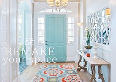 The Entryway. I want this blue door color or maybe I could do a fun lavender