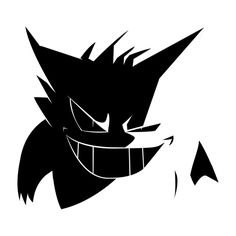 Awesome 'Gengar+Silhouette' design on TeePublic!