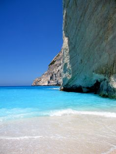 Navagio beach, Zakynthos - 10 of the best beaches in Greece. Don't forget when traveling that electronic pickpockets are everywhere. Always stay protected with an Rfid Blocking travel wallet. https://igogeer.com for more information.