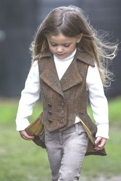 Our Legend & Legacy range allows Mothers & Daughters to ride out together in the epitome of matching style, creating a memorable timeless image. A Junior version of our much loved Lady's Lady Mary Waistcoat. An Incredibly elegant style for little Ladies to wear casually in Town or Country.