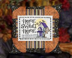 Home Sweet Home Patchwork Pillow Cover by SheBellaBirk on Etsy