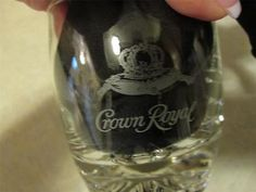 LOT OF 8 HEAVY BOTTOM CROWN ROYAL TUMBLERS OLD FASHION STYLE GLASSES 2 STYLES | eBay