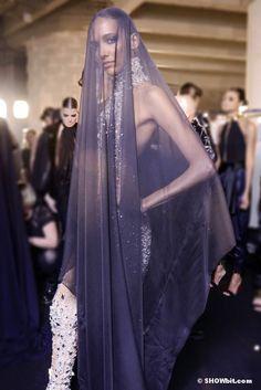 Cora Emmanuel at Alexandre Vauthier Haute Couture SS/2013 backstage