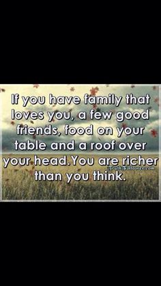 The REAL riches of life!