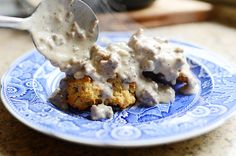 Drop Biscuits and Sausage Gravy. Comfort food classic.
